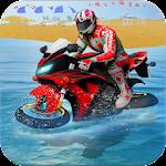 Water surfer moto bike race Icon
