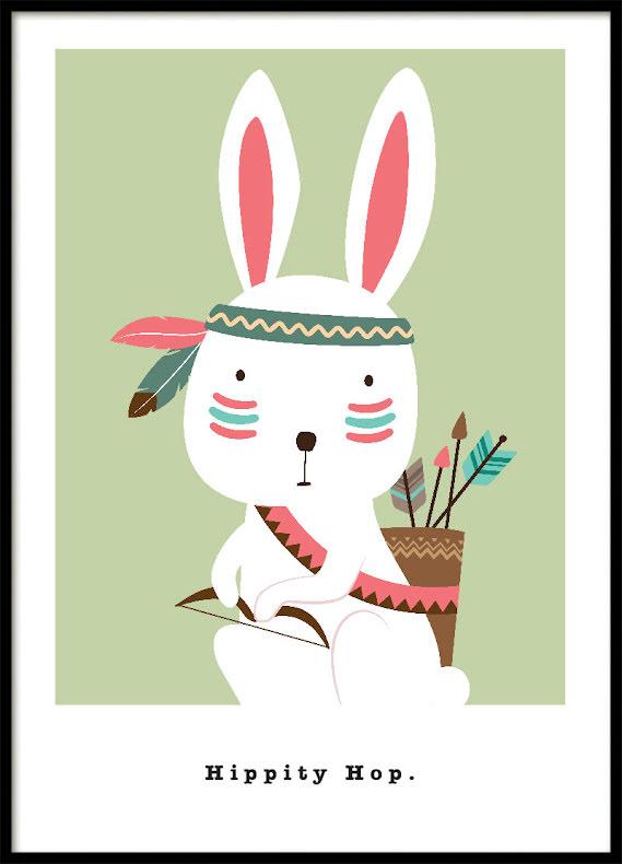 Grön Kanin, Poster