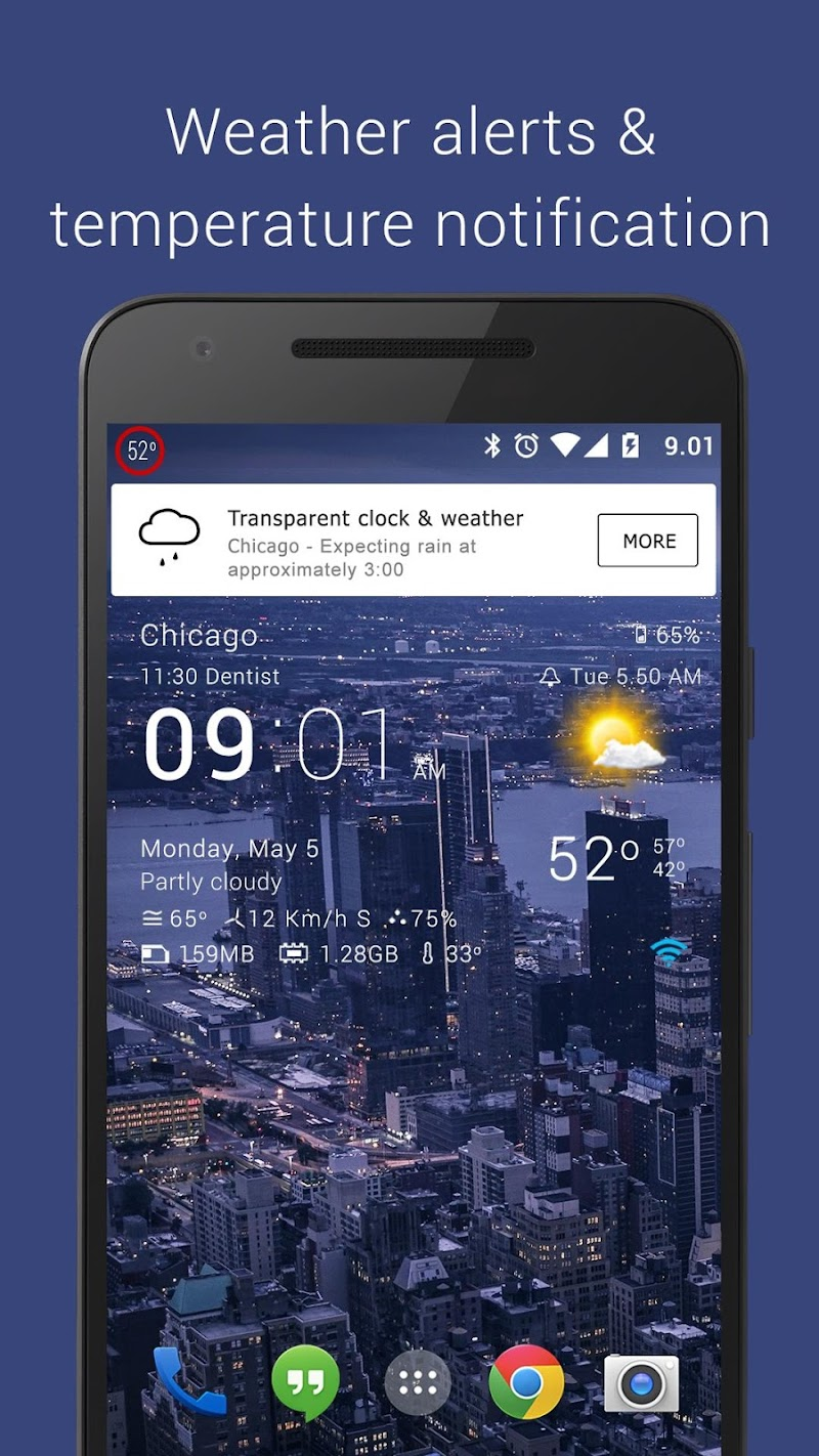 Transparent clock weather Pro Screenshot 7