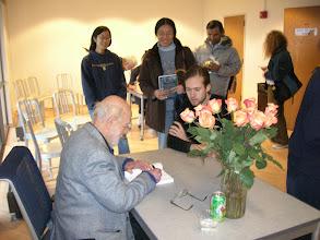 Photo: Erich Lehmann signing Andy Staudt's book