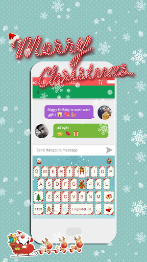 MerryChristmas 2016 Kika Theme screenshot