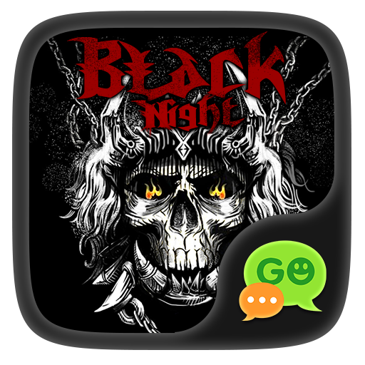 (FREE) GOSMS BLACK NIGHT THEME