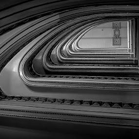 Vertigo by Orkidea W. - Buildings & Architecture Architectural Detail ( b&w, black and white, orkidea, d3100, architecture, nikon, photography, vertigo,  )