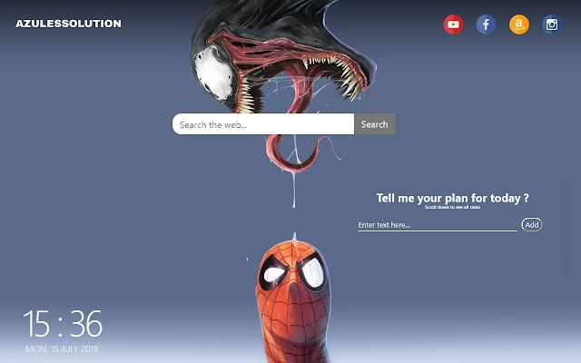 Spiderman Wallpaper - New Tab Theme
