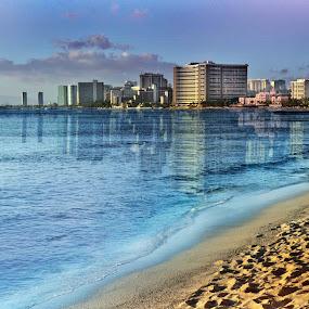 Waikiki by Adriano Sabagala - Novices Only Landscapes ( blue water, hawaii, waikiki )