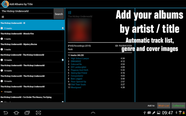 android CLZ Music - Music Database Screenshot 2