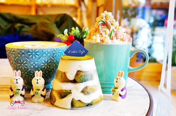 板橋乾燥花抹茶早午餐甜點推薦 樂點咖啡,抹茶富士山提拉米蘇&暖暖冬季棉花糖抹茶白巧克力歐蕾