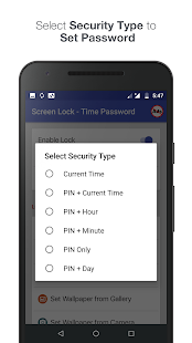 Screen Lock - Time Password Screenshot