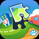 宝宝拼图:社会 - 熊大叔儿童教育游戏 icon