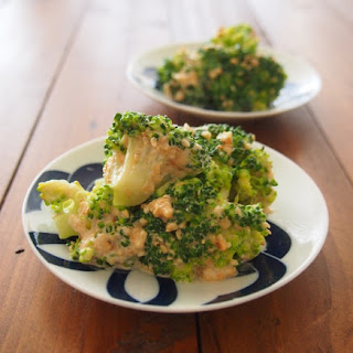 Broccoli Dressed in Sesame Seeds and Mayonnaise