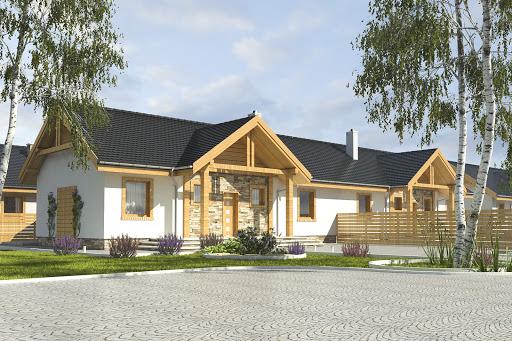 projekt Modraszka bez garażu bliźniak B-BL1