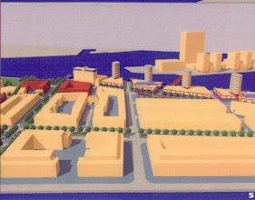Photo: [1999 ©-Woningsrichting Onze Woongemeenschap OWG en ©-verzameling KBO] - http://www.Katendrecht.info - schetsen & studies - artist impression mogelijk alternatief aan de Maashaven (zie ^5 op de plattegrond).