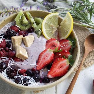 Raw Vanilla, Berry, and Lemon 'Cheesecake' Smoothie Bowl [Vegan, Gluten-Free] Recipe