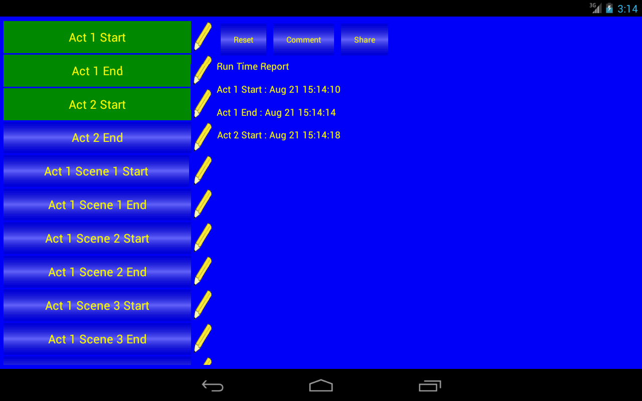 Stage write android software