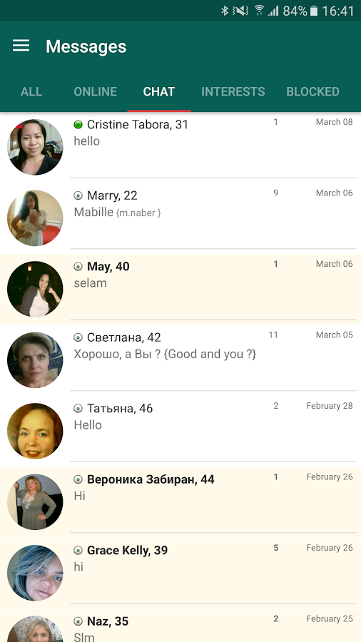 Free dating chat application
