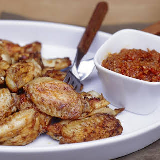 Spicy Barbecued Chicken Wings.