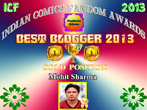 Photo: Best Blogger - Indian Comics Fandom Awards 2013