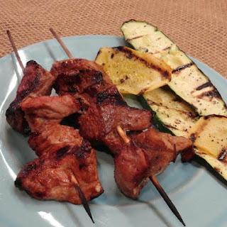 Grilled Pork Kabobs.