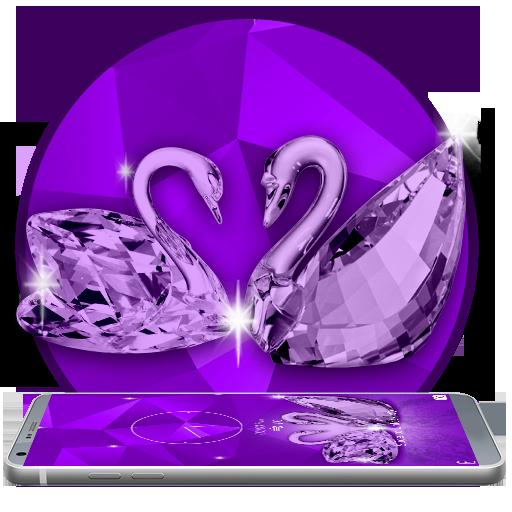 Crystal purple swan theme