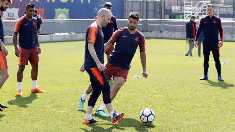 FC Barcelona pictured during a training session on Thursday May 17 2018, just hours after flying back from South Africa where they won 3-1 against Mamelodi Sundowns in an exhibition match at FNB Stadium.