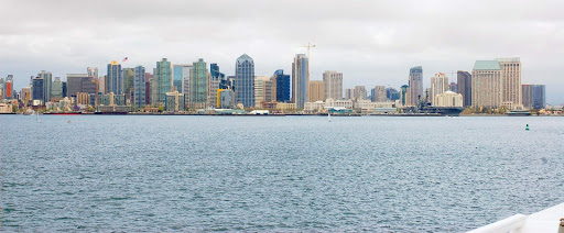 The skyline of San Diego, seen on a Hornblower brunch cruise.