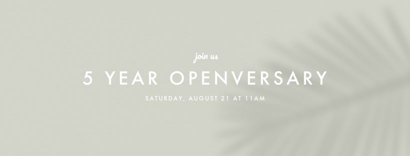 Five Year Openversary - Facebook Page Cover Template