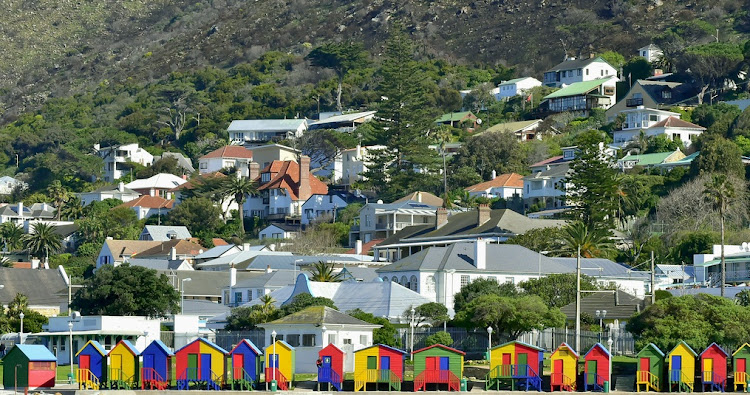 House are shown along the beach in Muizenberg, Cape Town. Picture: ISTOCK