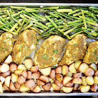 Sheet Pan Pesto Chicken & Vegetables.