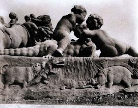 Photo: Bourdic: El Nilo ( detalle ) . Jardin des Tuileries ( 1 arr), 1911 .- EUGÈNE ATGET