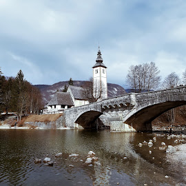 Bohinj lake by Ana Zec - Uncategorized All Uncategorized ( bridge, bohinj, lakebohinj )