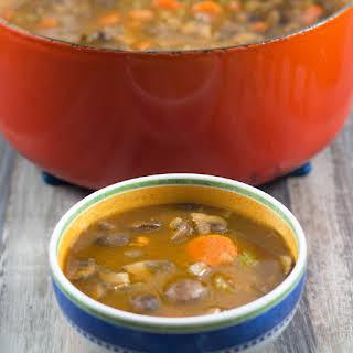 Intensely Flavored Mushroom Barley Soup.
