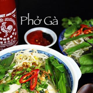 Phở Gà (Vietnamese Chicken Noodles Soup).