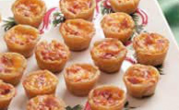 Fill each with about 1 T. of cheese mixture. Bake at 450 for 9-11...