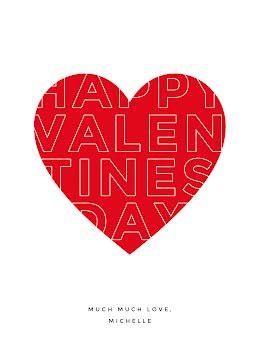 Much Much Love - Valentine's Day Card item
