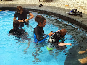 Photo: scuba course
