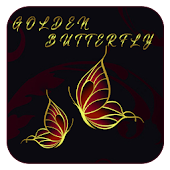 Gold Butterfly theme wallpaper