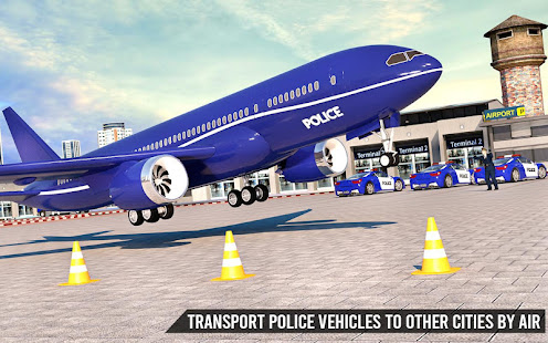 Download US Police Transporter Truck: Car Driving Games For PC Windows and Mac apk screenshot 1