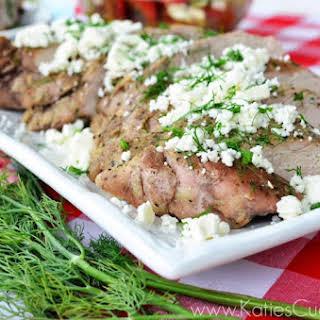 Grilled Greek Pork Tenderloin.