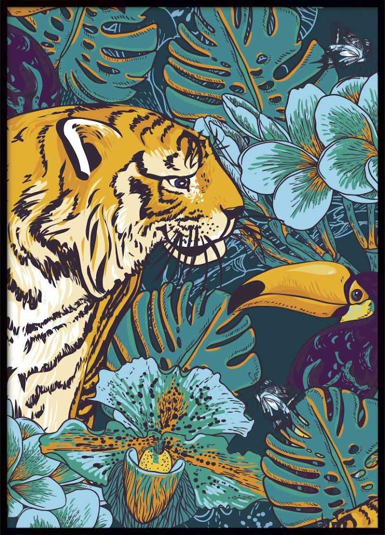 Jungle Tiger Poster