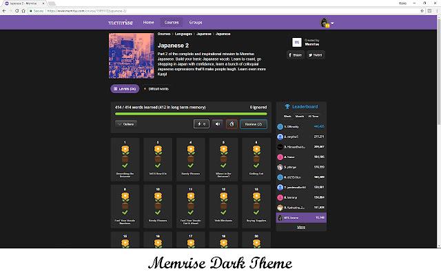 Memrise Dark Theme