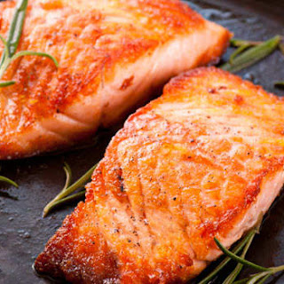 Grilled Salmon with Orange Marinade.