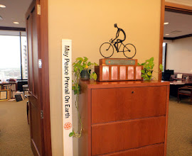 Photo: Welcome at John Hewko`Office - everyone is Aware: there is a cycling Enthusiast working day and night....