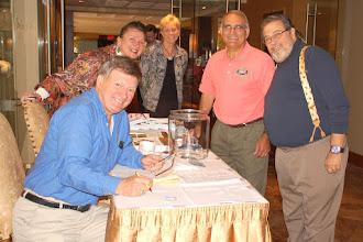 Photo: Registration with Bernie, Gloria, Debbie, Sal, Joe