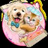 Tema di gattino e cucciolo