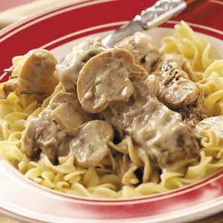 Mushroom 'n' Steak Stroganoff.