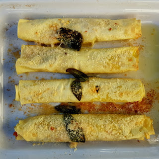 Cannelloni with Pumpkin and Goat Cheese (Two Ways) Recipe
