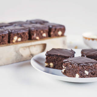 Buttermilk Brownies with Buttermilk Chocolate Frosting.