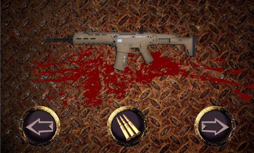 The sound of gunfire
