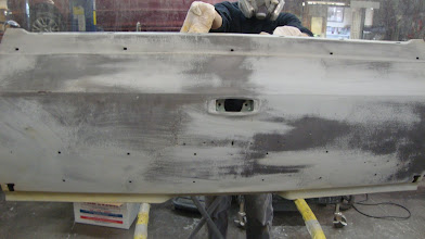 Photo: This panel has been washed and ready for final sanding then it is the purist metal that we can make it .