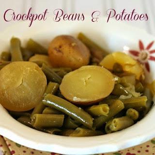 Crockpot Green Beans and Potatoes.